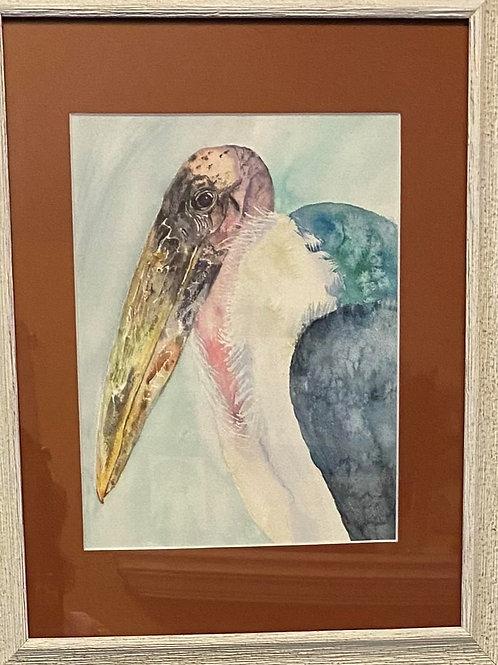 101 Marabou Stork Watercolor