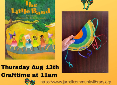Storytime/Craft Time August 13th