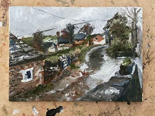 107 Wintery Days in England oil on panel