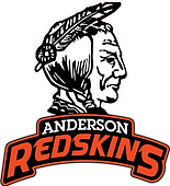 Anderson High School Redskins Logo White