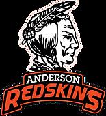 Anderson High School Redskins Logo White
