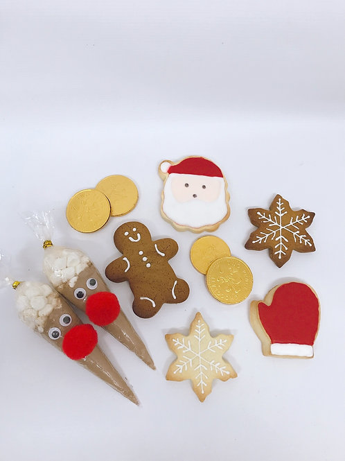 Personalised Christmas Biscuit Box