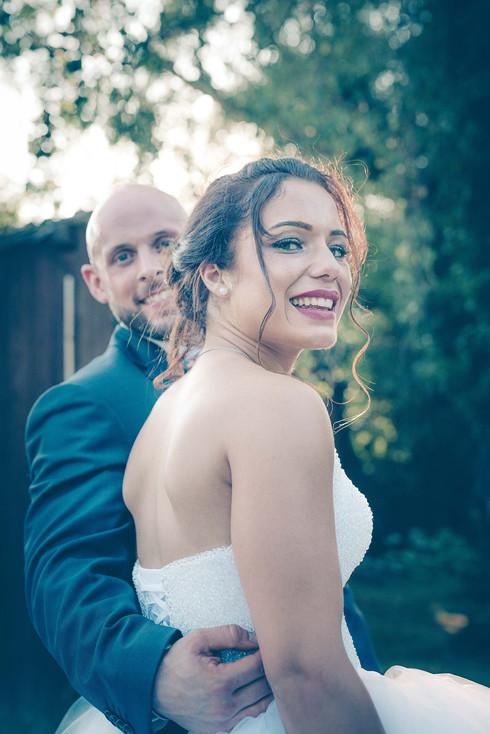 les mariés surpris