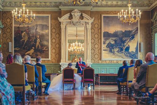 Mariage à la mairie de Belfort dans la salle d'honneur