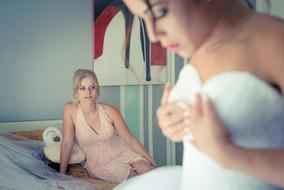 Habillage de la mariée