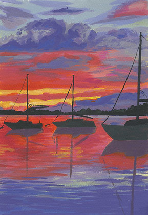 Red Sunset Archival Print
