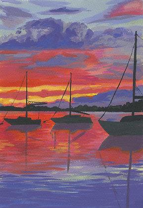 Red Sunset, Original Artwork