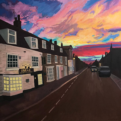 Oundle Sunset, Archival Print