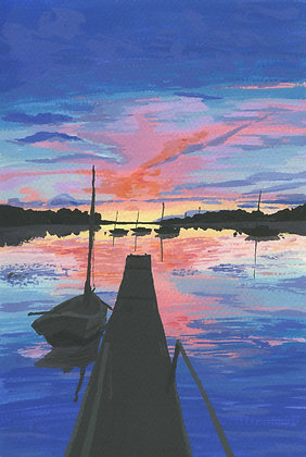 Blue Sunset Archival Print