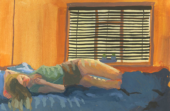 Afternoon Nap, Original Artwork