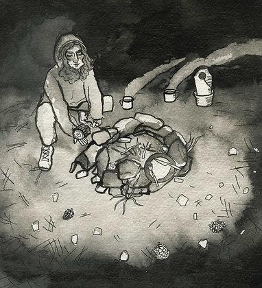 Campfire, Original Artwork