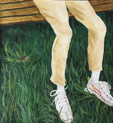 Robin in the Grass, Archival Mini Print