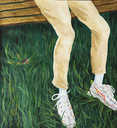 Robin in the Grass, Original Artwork