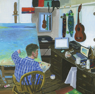 Portrait of my Father in his Studio