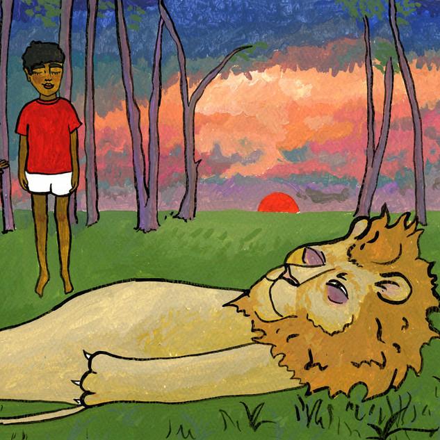 The Grumpy Lion