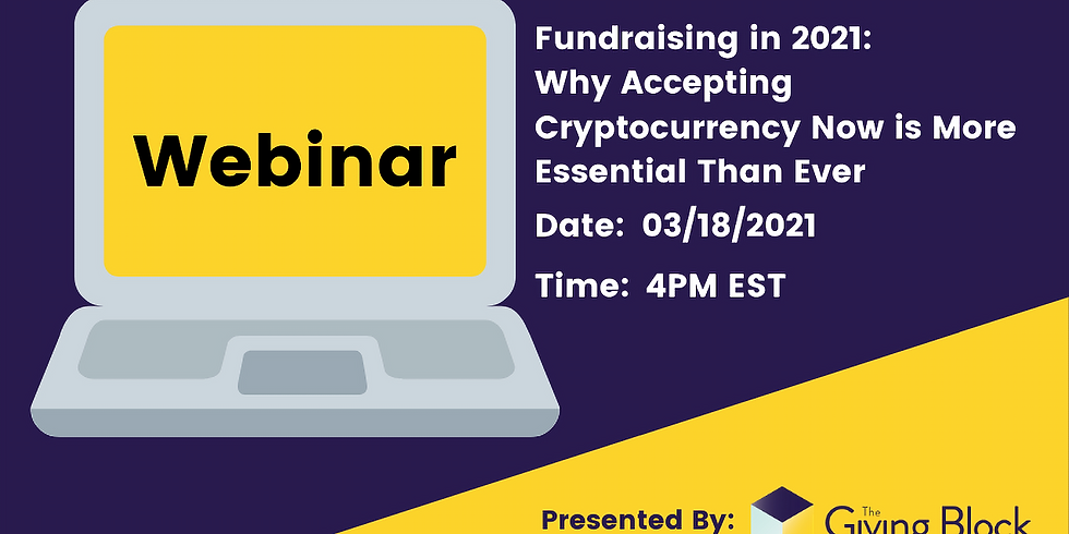 Fundraising in 2021: Why Accepting Cryptocurrency Now is More Essential Than Ever