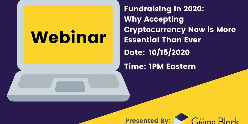Fundraising in 2020: Why Accepting Cryptocurrency Now is More Essential Than Ever