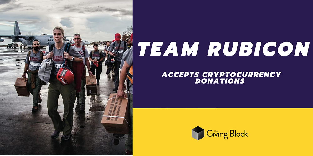 Donate Cryptocurrency to Team Rubicon