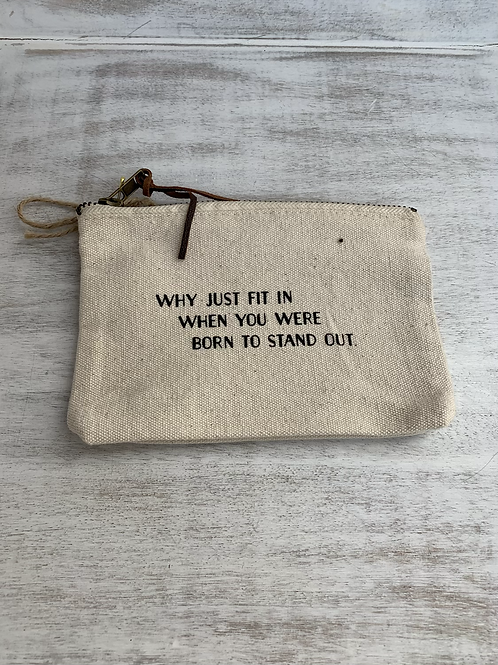 Mud Pie Stand Out Canvas Pouch