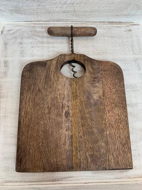 Mud Pie Small Corkscrew Board Set Square