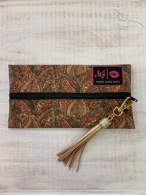 Makeup Junkie Bags Paisley Cork Mini