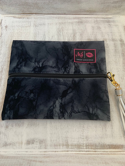 Makeup Junkie Bags Destash Charcoal Marble Small