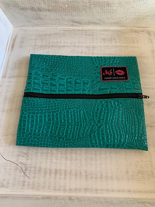 Makeup Junkie Bags Destash Turquoise Gator Small