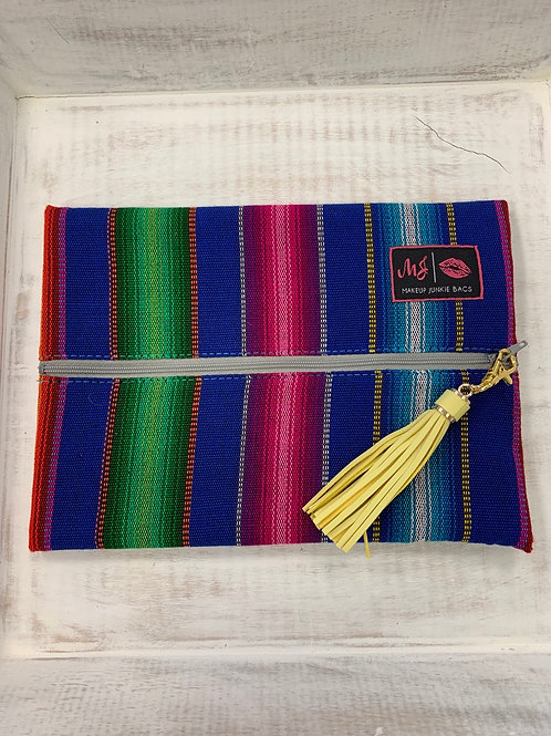 Makeup Junkie Bags OSO Serape Blue Medium