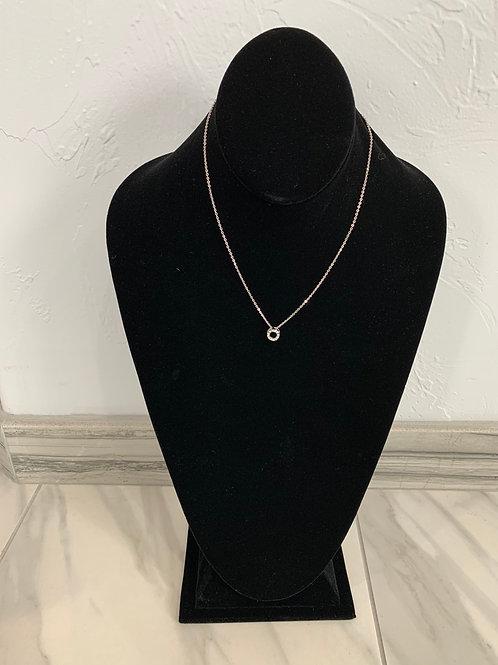 Lauren Michael Silver Mini Circle Necklace