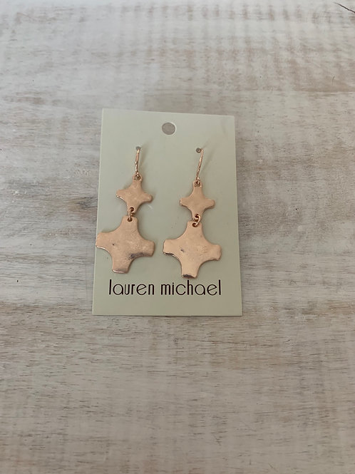 Lauren Michael Rose Gold Plus Stack Earrings