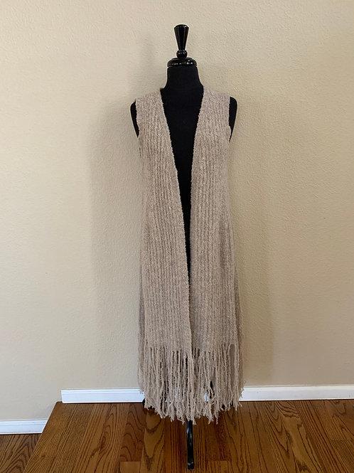 Gretty Zueger Long Sweater Vest Camel