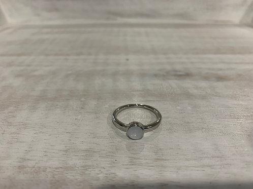 Lauren Michael White Stone Ring