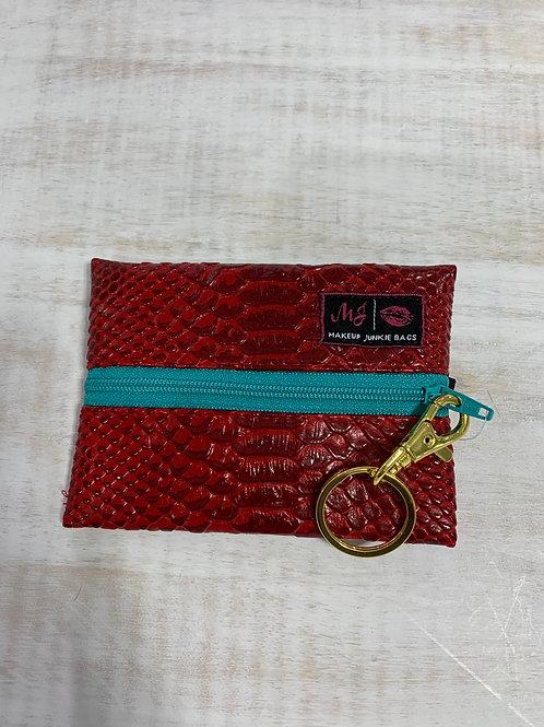 Makeup Junkie Bags Crimson Cobra Mint Zipper Micro