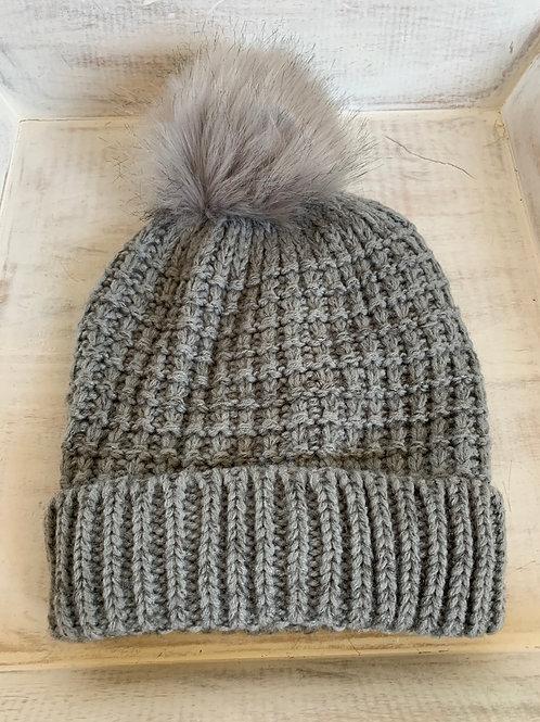 AW Knit Fur Hat
