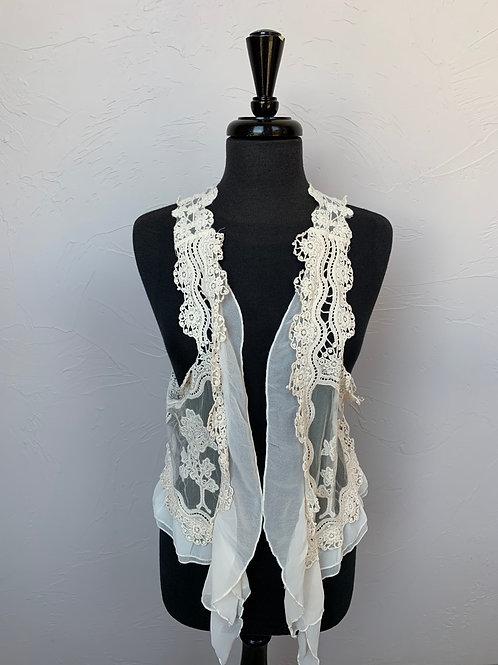 Umgee Knit Crochet Vest