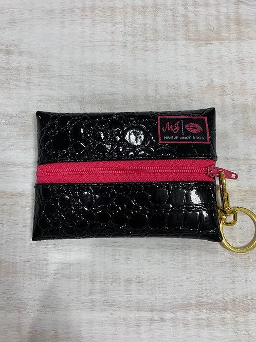 Makeup Junkie Bags Midnight Gator Pink Zipper Micro