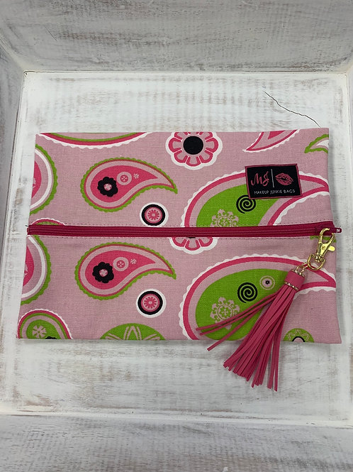 Makeup Junkie Bags Pink Paisley Medium