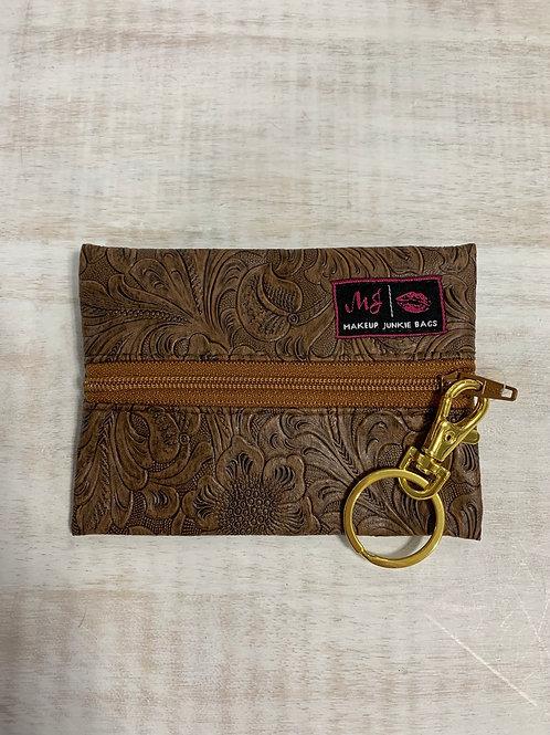 Makeup Junkie Bags Amarillo Tan Zipper Micro