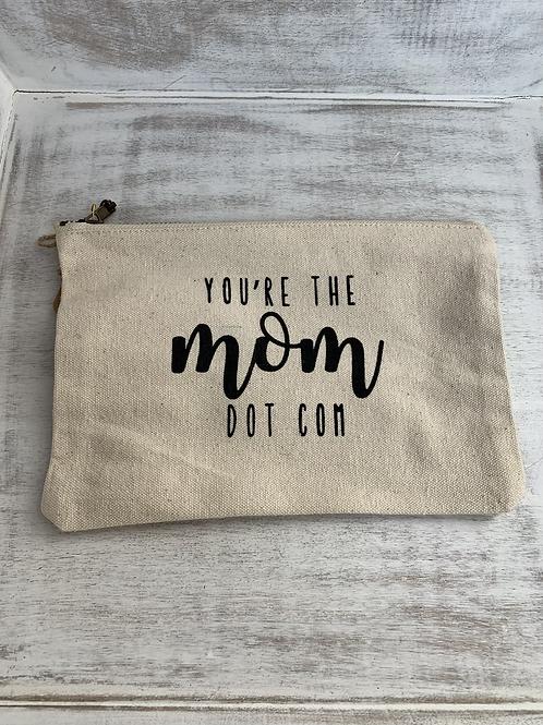 Mud Pie Mom Dot Com Canvas Pouch