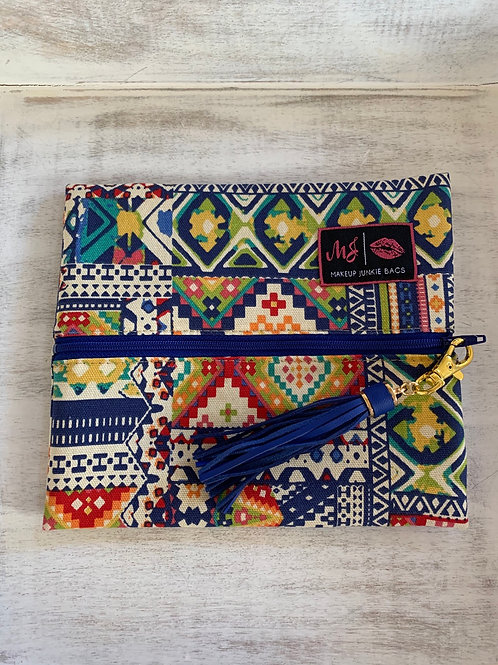 Makeup Junkie Bags Colorful Aztec Small