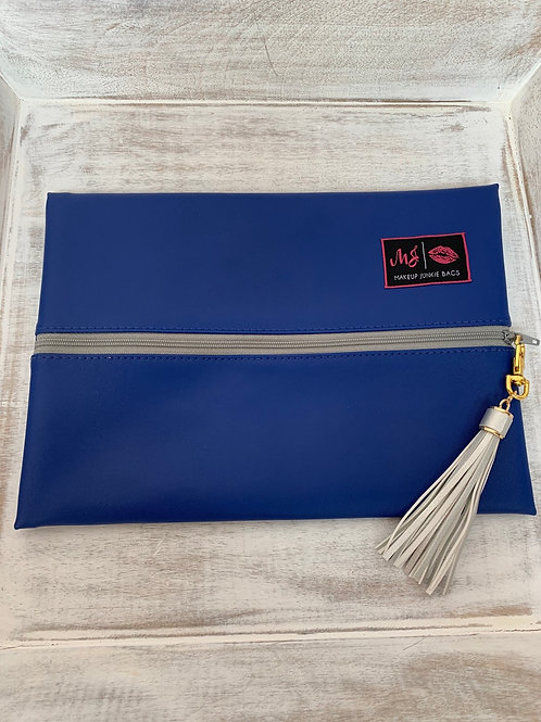 Makeup Junkie Bags Destash Blue and Silver Medium