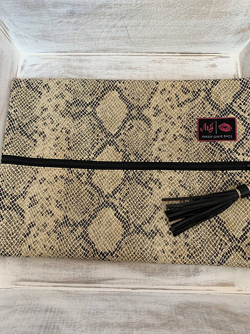 Makeup Junkie Bags White Snake Large