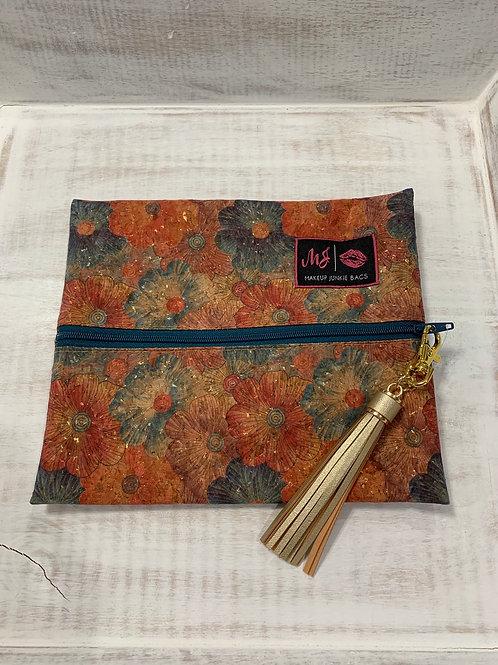 Makeup Junkie Bags Petunia Cork Coloful Small
