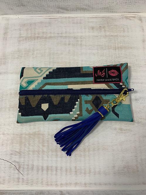 Makeup Junkie Bags Phoenix Blue Mini