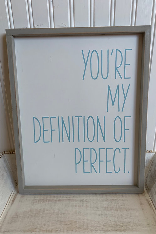 Mud Pie You're My Definiton of Perfect Plaque