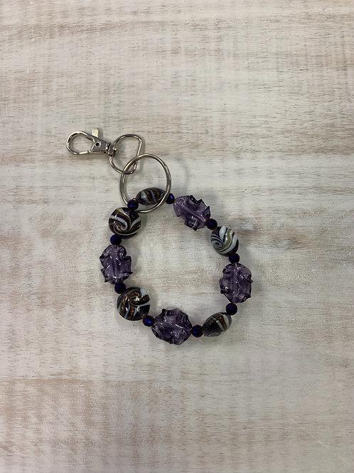 Beaded Beginnings Keychain for Makeup Junkie Bags Purple Wave
