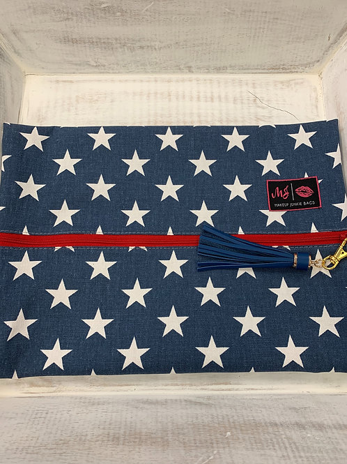 Makeup Junkie Bags Red White and Beautiful Large