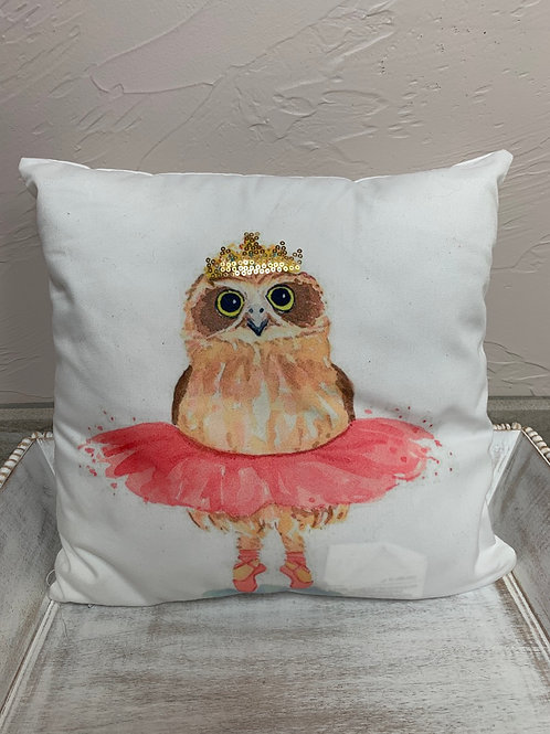 Giftcraft Owl With Crown Pillow