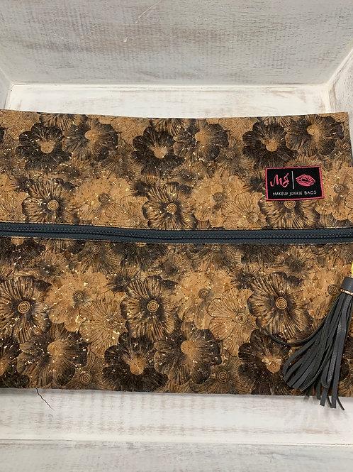 Makeup Junkie Bags Petunia Cork Black and White Large