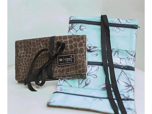 Makeup Junkie Bags Bayou Slate Jewelry Bag